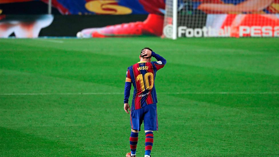 Leo Messi, en un partido de LaLiga Santander, con el FC Barcelona. CORDONPRESS