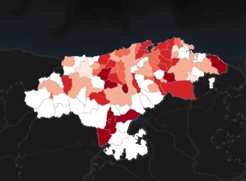 Diez municipios en riesgo extremo por Covid-19 en Cantabria