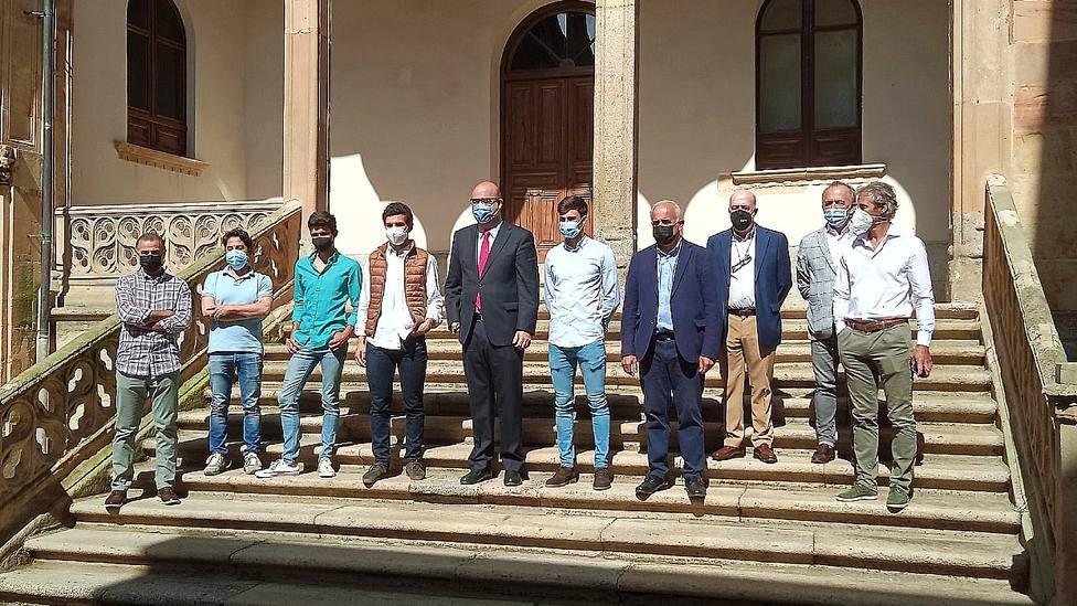 Los novilleros castellano-leoneses, en la Diputación de Salamanca