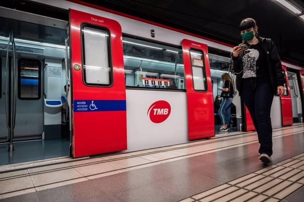 Los usuarios de metro en Barcelona crece