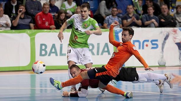Palma Futsal, durante su partido frente a Aspil Vidal (FOTO: LNFS)