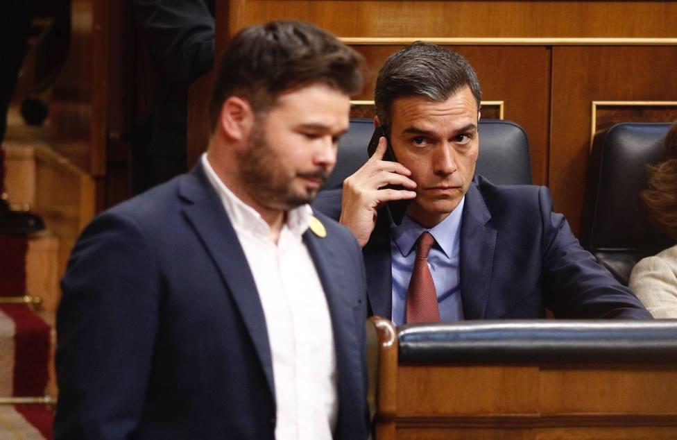 La abstención de ERC gana enteros como vía más factible para que Pedro Sánchez supere la investidura en el Congreso