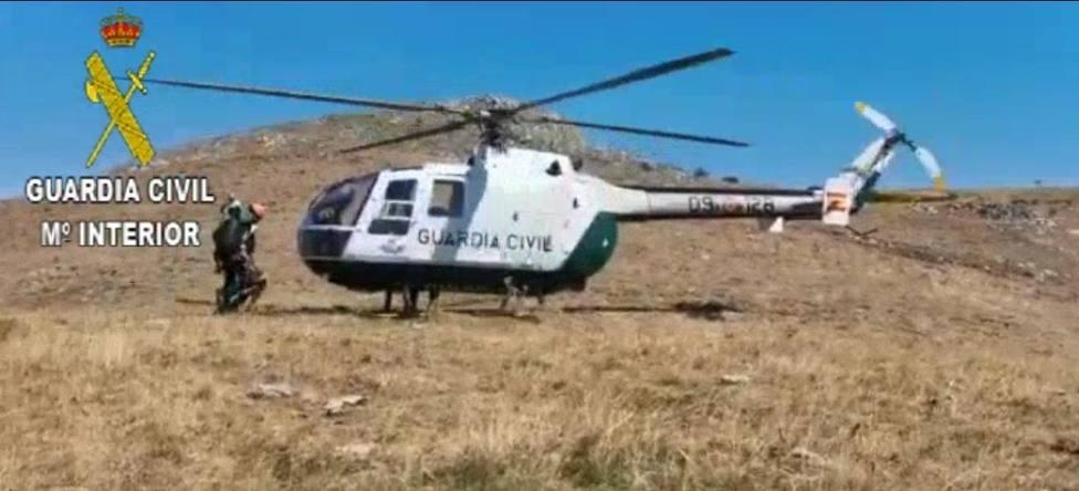 Rescatan a un ciclista herido en el Pico Fontañán en Pola de Gordón (León)