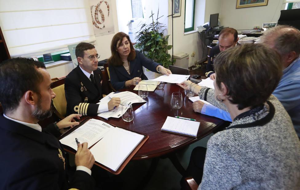 Reunión de seguimento entre responsables de la Consellería do Mar y de la Armada - FOTO: Xunta