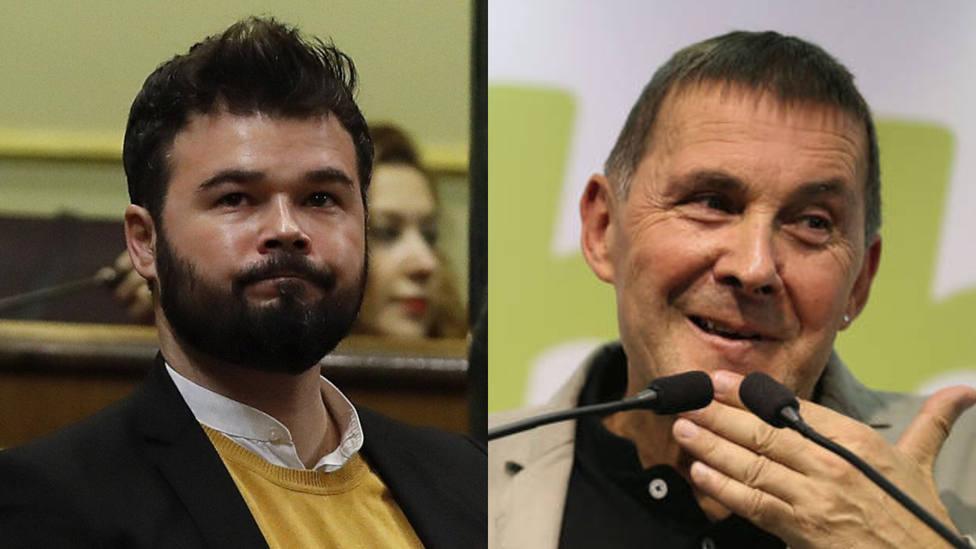 Rufián homenajea a Ernest LLuch (PSC), asesinado por ETA, y las redes le recuerdan su amistad con Otegi