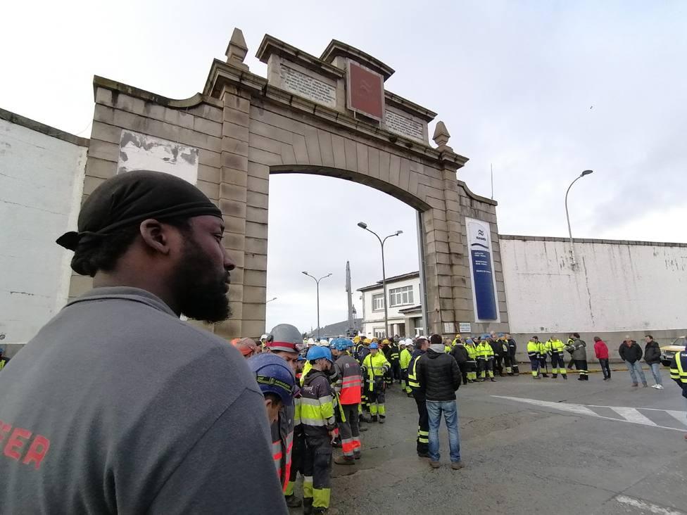 Concentración a las puertas de Navantia Ferrol