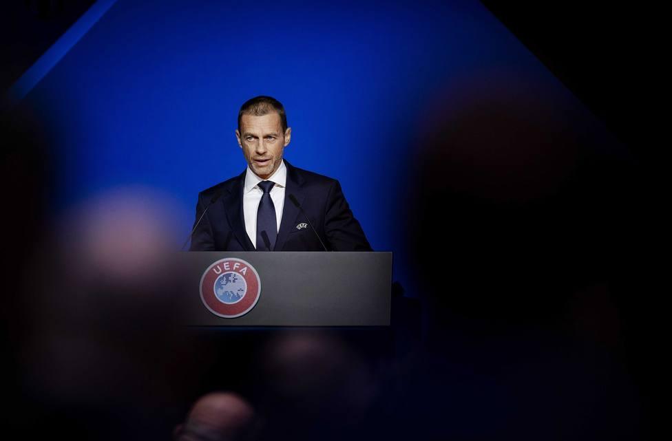Aleksander Ceferin, presidente de la UEFA, durante un congreso en Ámsterdam.