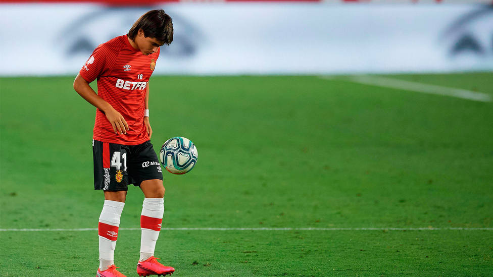 Luka Romero, jugador del Mallorca. CORDONPRESS