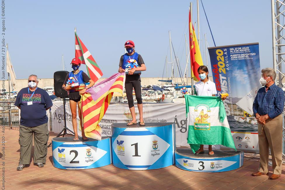 Baleares y Andalucia campeonas de España en el campeonato Optimist de Águilas
