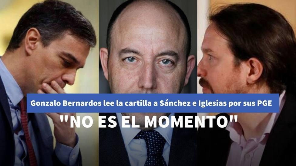 Gonzalo Bernardos lee la cartilla a Sánchez y le lanza un claro mensaje sobre sus Presupuestos