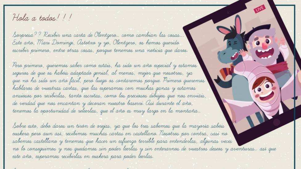 PNV y PSOE amenazan sin regalos a los niños que escriban sus cartas en castellano en Lejona