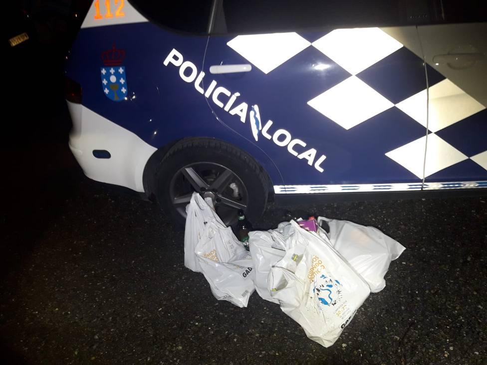 La Policía Local interviene por un botellón y dos fiestas en pisos de Lugo