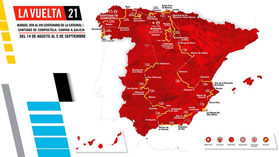Recorrido oficial de La Vuelta a España 2021