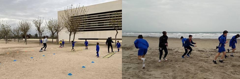 El Primer Toque CF se entrenó este lunes en parques y playas