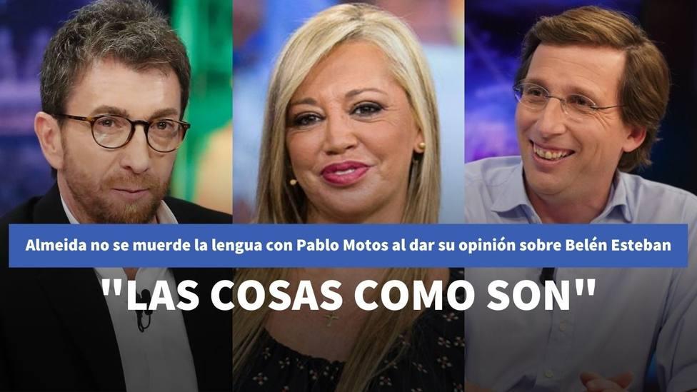 """Almeida no se muerde la lengua con Pablo Motos al dar su opinión sobre Belén Esteban: """"Las cosas como son"""