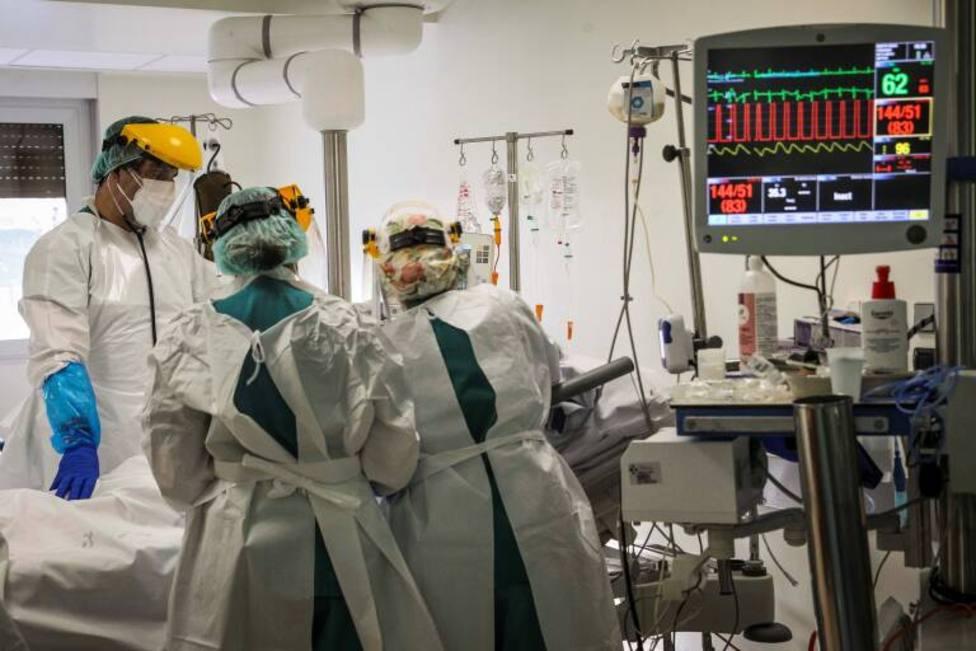 Enfermo de COVID en un hospital