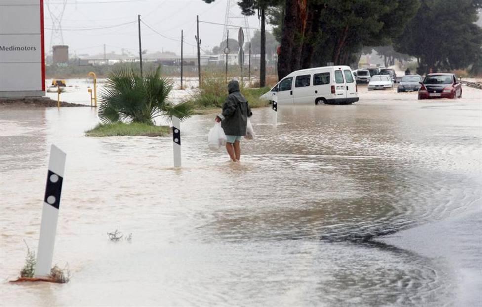 Orihuela, durante las inundaciones de la Vega Baja en septiembre de 2019