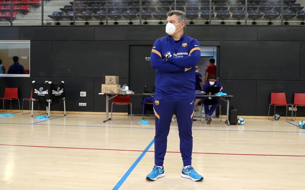 Xavi Pascual, entrenador del Barcelona de balonmano