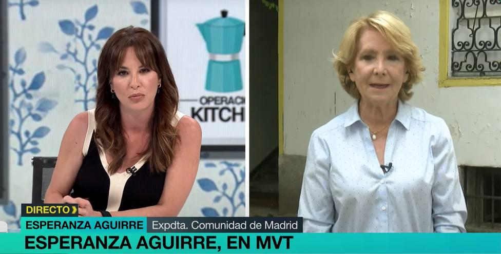 """El duro enfrentamiento entre Mamen Mendizábal y Esperanza Aguirre en Más vale tarde: """"No empiece gritándome"""""""