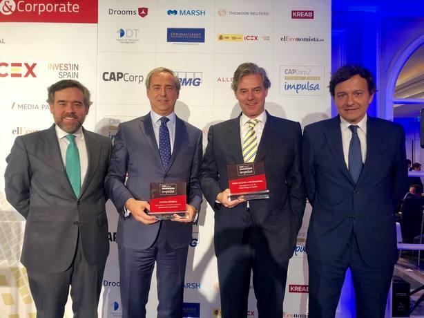 Corpfin Capital y ACS, galardonados con los Premios CapCorp Impulsa 2018