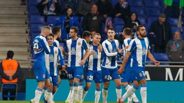 El Espanyol celebra el gol de Hernán Pérez (@LaLiga)