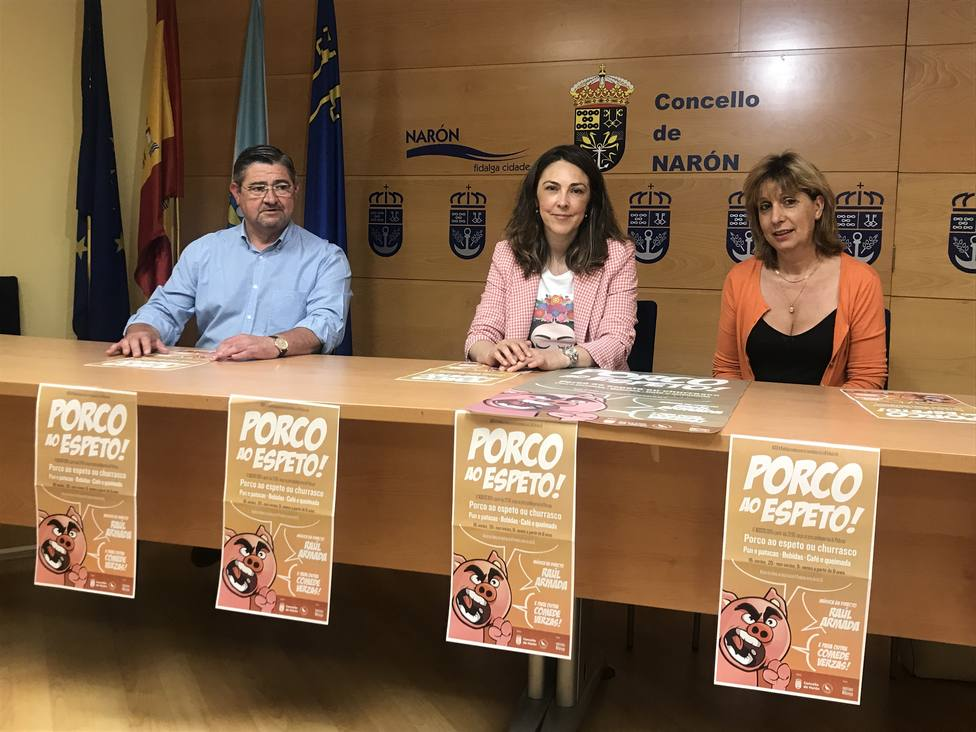 Presentación en el Ayuntamiento de Narón de la fiesta gastronómica - FOTO: Concello de Narón