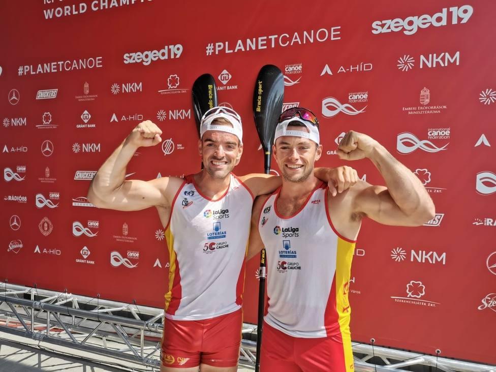 Piragüismo/Mundial.- Pelayo Roza y Pedro Vázquez, subcampeones en K2 500 metros