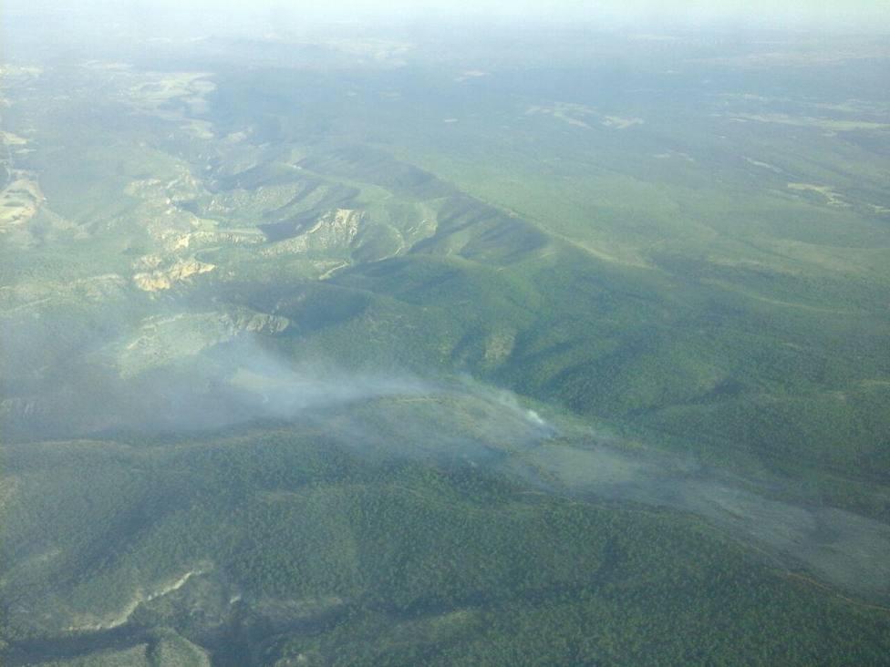 Estabilizado el incendio de Monteagudo de las Salinas (Cuenca), que aún está pendiente de control