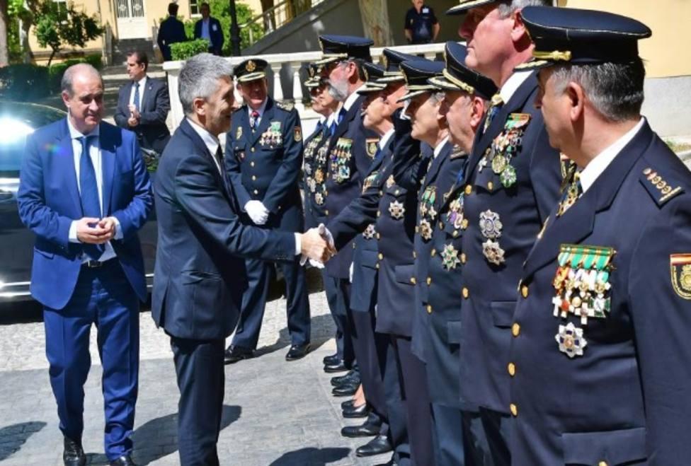 El ministro Grande- Marlaska y los mandos de la Policía Nacional
