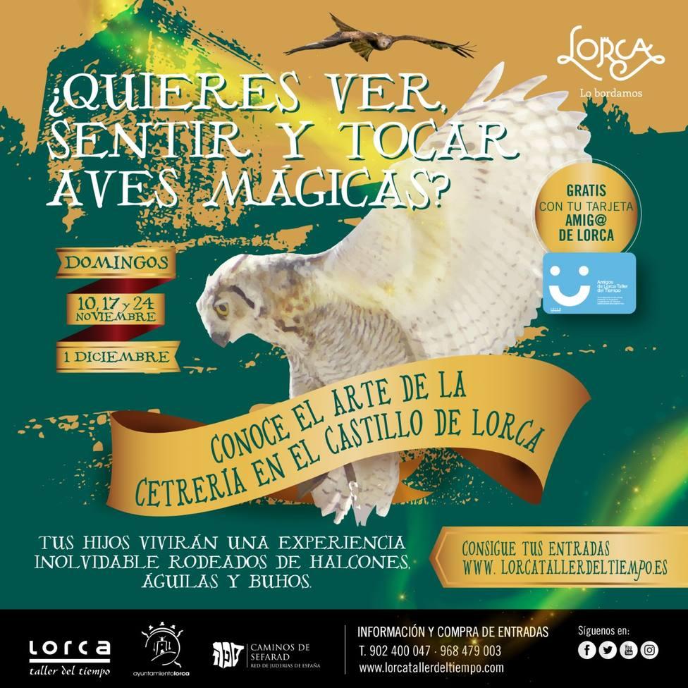 'Lorca Taller del Tiempo', da a conocer el arte de la cetrería en el castillo