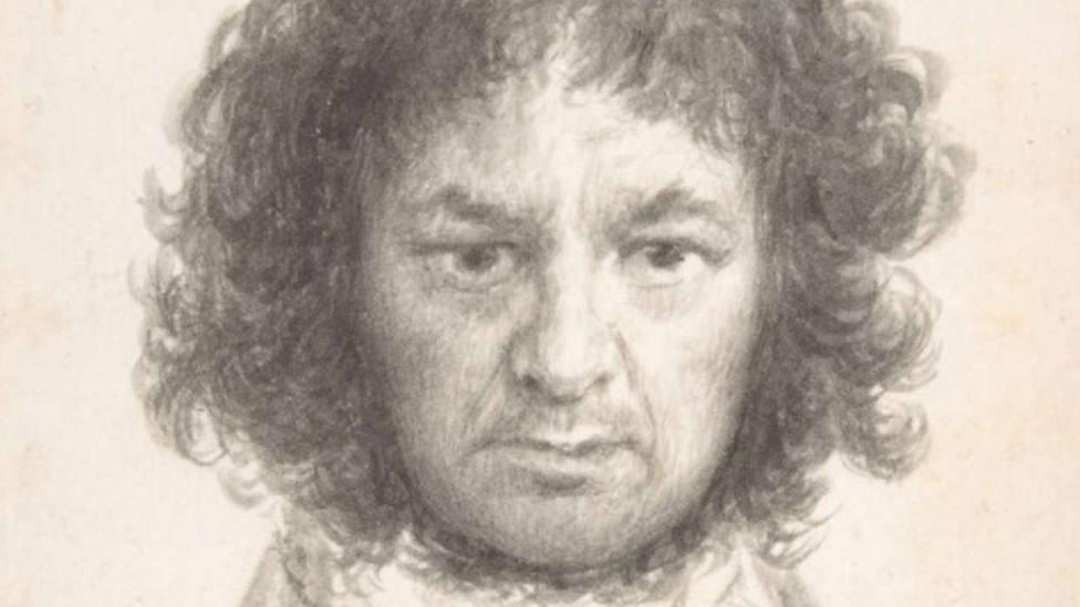 Autorretrato, uno de los dibujos de Goya que se pueden ver en la exposición que clausura el bicentenario