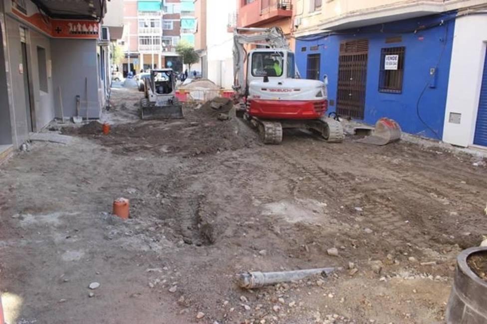 Obras en la Calle Panamá de Motril