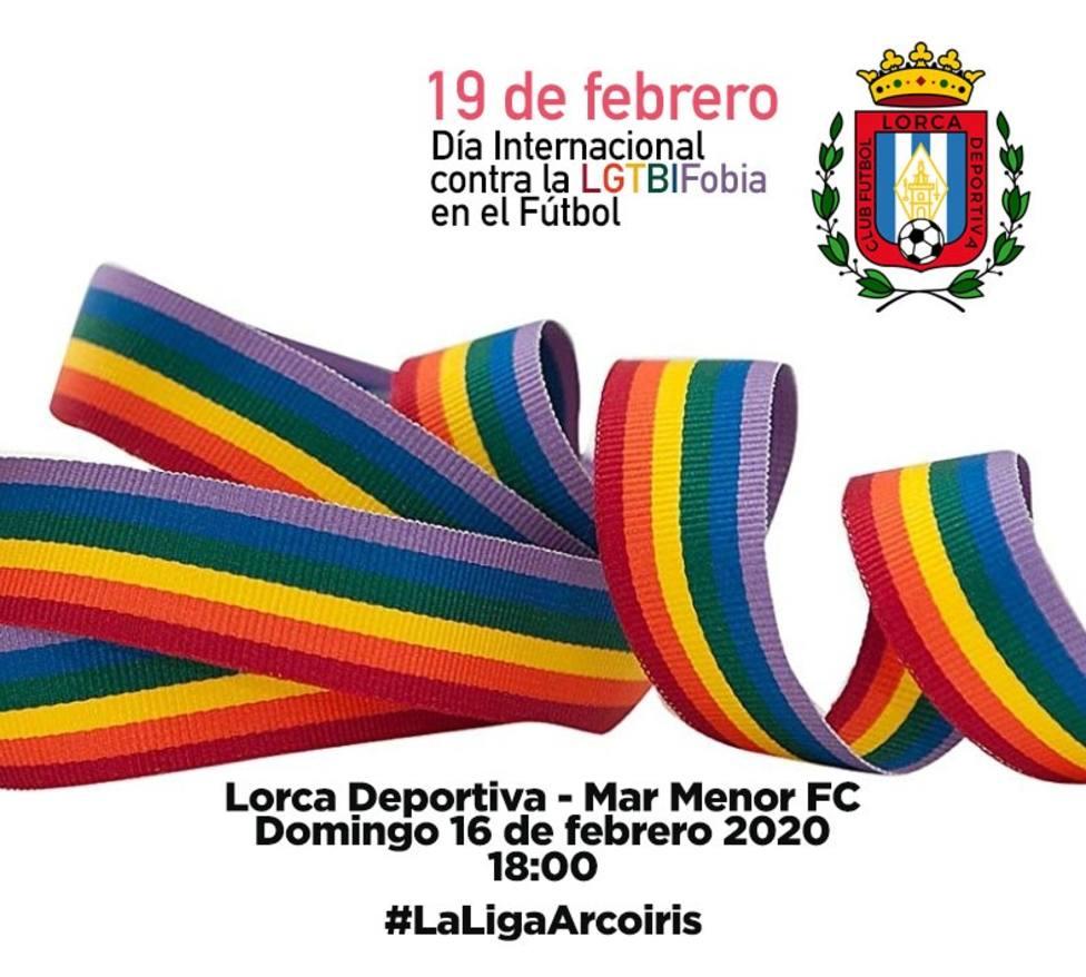 El Lorca Deportiva se une a la celebración del Día contra la LGTBIFobia en el fútbol