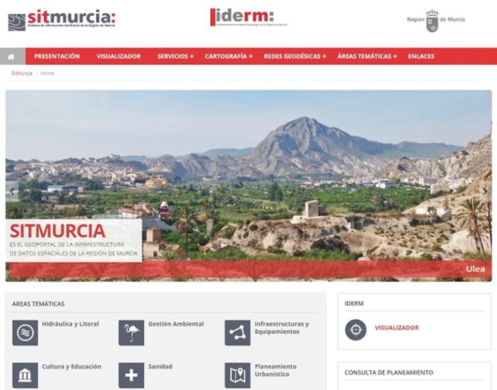 La Comunidad incorpora en su portal de gestión territorial nuevas fotos aéreas de la Región realizadas en 2019
