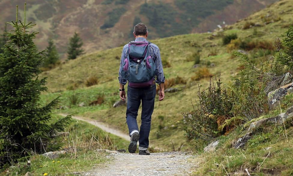 Foto de archivo de un caminante