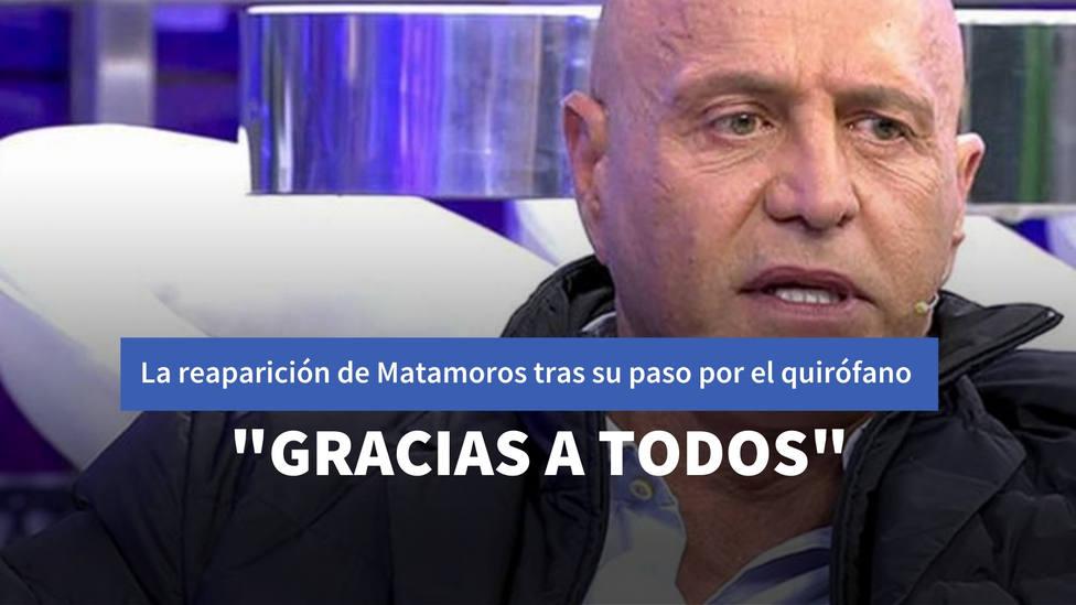 Kiko Matamoros reaparece en Sálvame tras pasar por quirófano y no deja indiferente a nadie