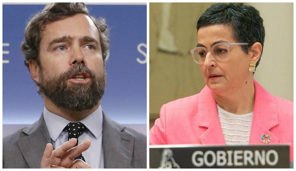 """Espinosa de los Monteros por el """"viaje"""" de la ministra de Exteriores al País Vasco: """"¿Así, o más claro?"""