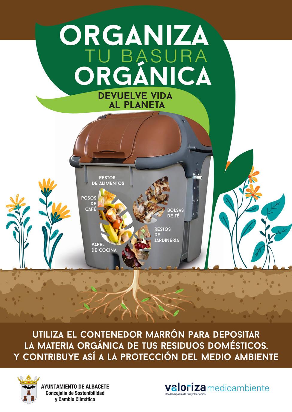 Cartel Valoriza / Campaña basura orgánica
