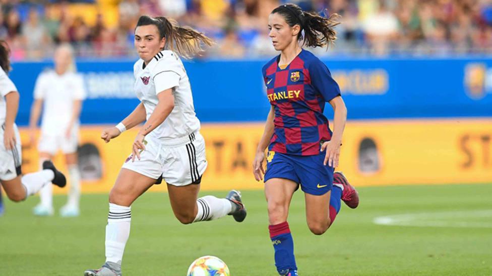 Momento del partido entre el Tacón y el Barcelona