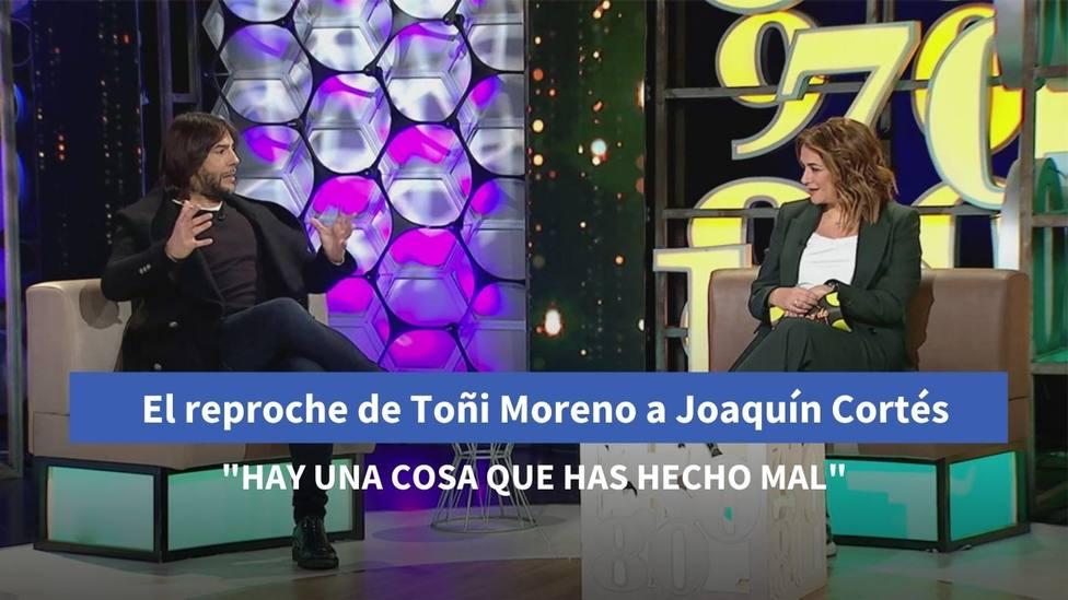 El reproche de Toñi Moreno a Joaquín Cortés en Canal Sur: Hay algo que has hecho mal