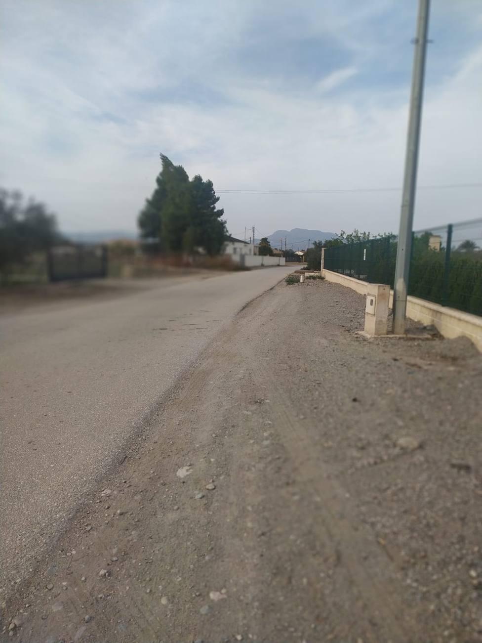 Puerto Lumbreras instalará alumbrado público en el camino Motores de Payá de la pedanía de El Esparragal
