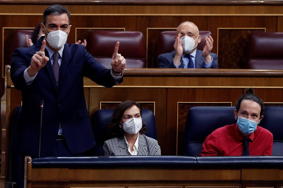 Pedro Sánchez en la sesión de contro lal Gobierno
