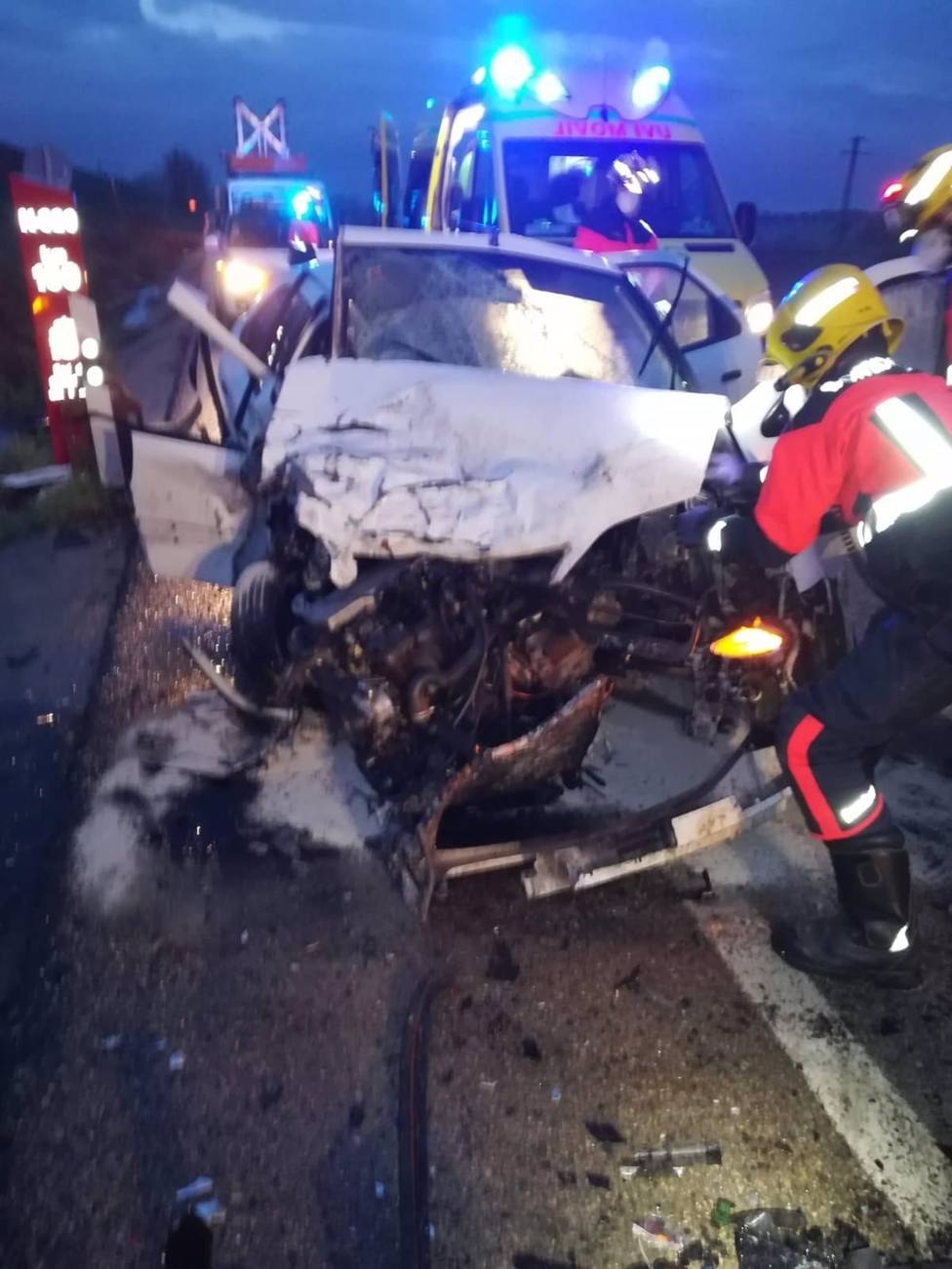 Sucesos.- Dos personas trasladadas al Virgen de la Luz tras sufrir un accidente de tráfico en Chillaron de Cuenca