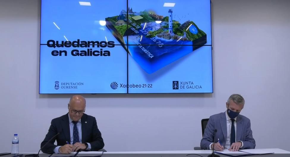 Manuel Baltar y Alfonso Rueda