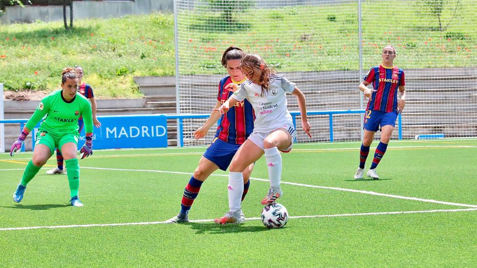 Imagen del partido entre Madrid CFF y Barça (FOTO: Madrid CFF)