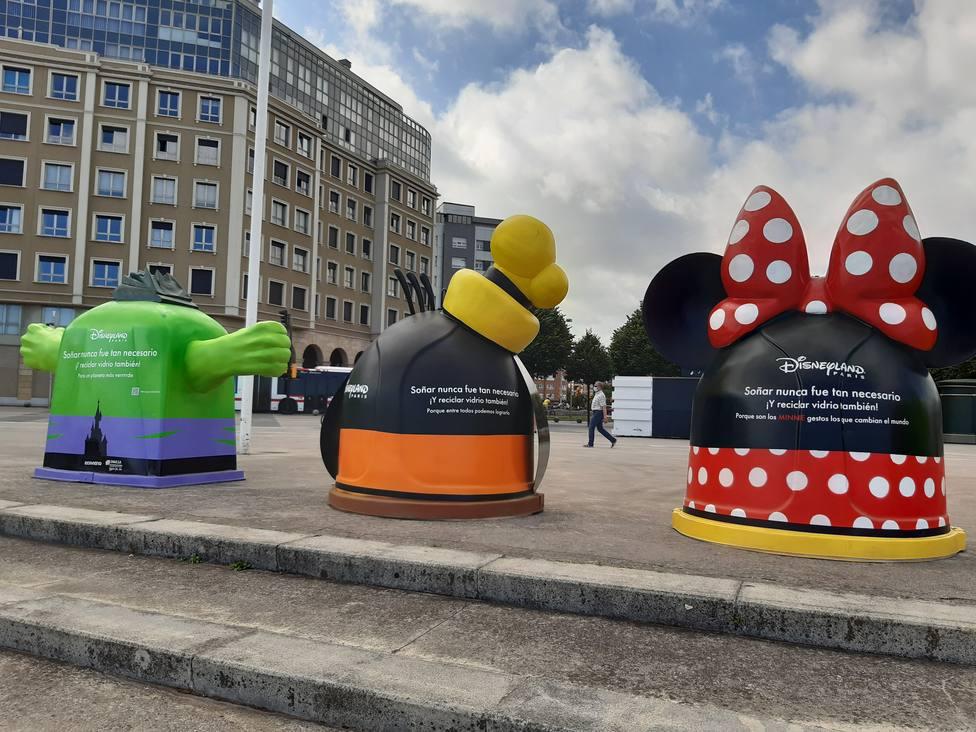 EMULSA ha logrado captar con los muñecos de Disney la atención de grandes y pequeños para reciclar mejor