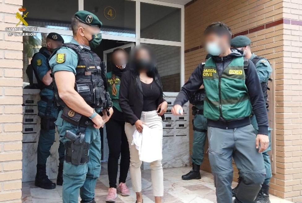 Mujer liberada por la Guardia Civil