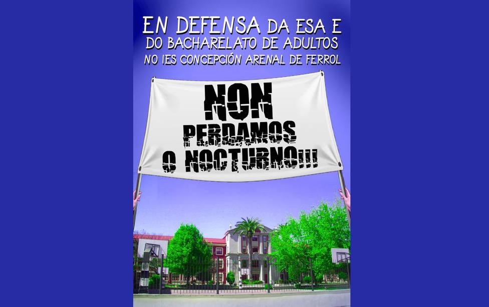 Uno de los carteles elaborados para reclamar la continuación del horario nocturno - FOTO: Cedida