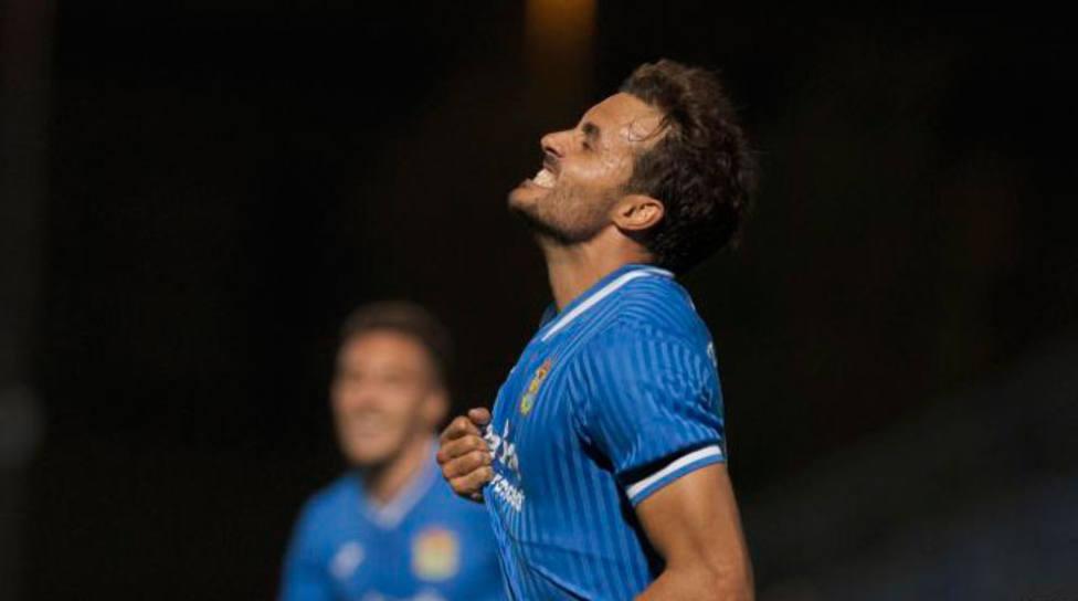Pedro León celebra el gol al Cartagena (LaLiga)