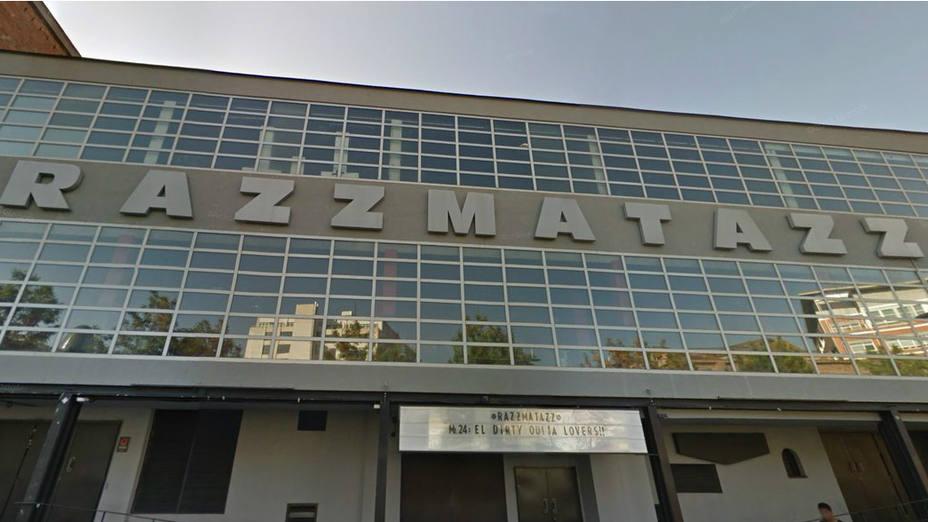 Imagen de la fachada de la discoteca Razzmatazz de Barcelona